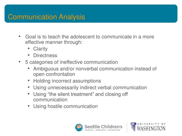 Communication Analysis