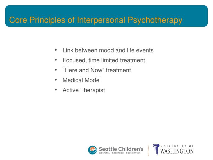 Core Principles of Interpersonal Psychotherapy