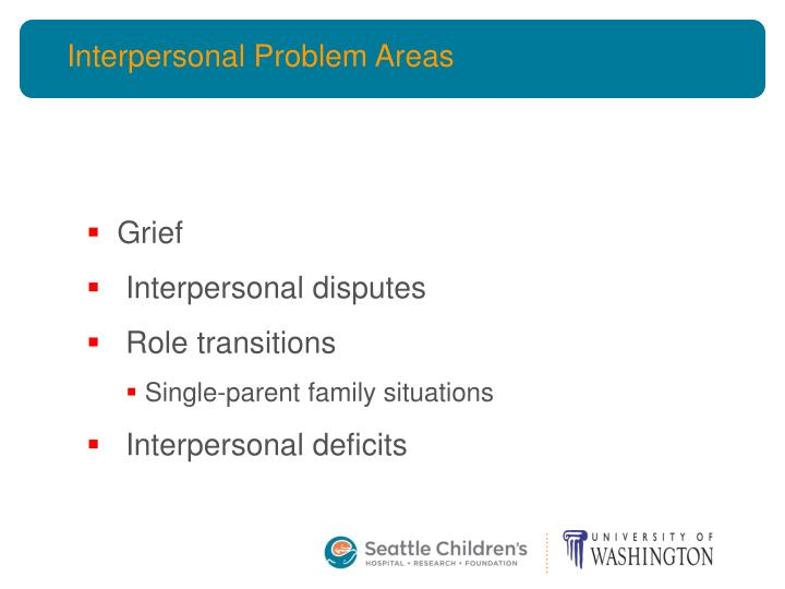 Interpersonal Problem Areas
