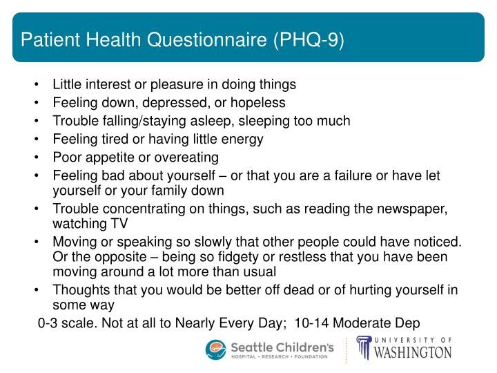 Patient Health Questionnaire (PHQ-9)