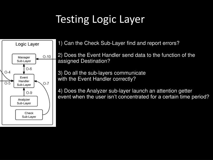 Testing Logic Layer