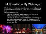 multimedia on my webpage