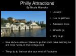 philly attractions by nicole warncke