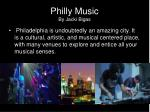 philly music by jacki bigas