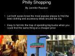 philly shopping by jennifer reardon