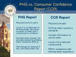 phg vs consumer confidence report ccr