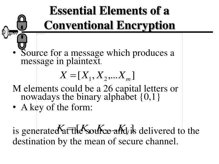 Essential Elements of a Conventional Encryption