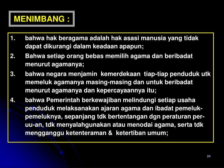 MENIMBANG :