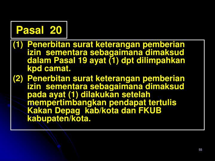 Pasal  20