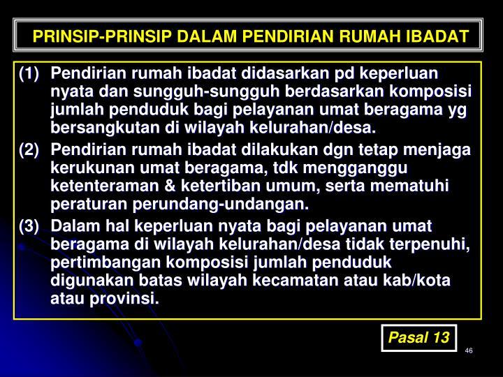 PRINSIP-PRINSIP DALAM