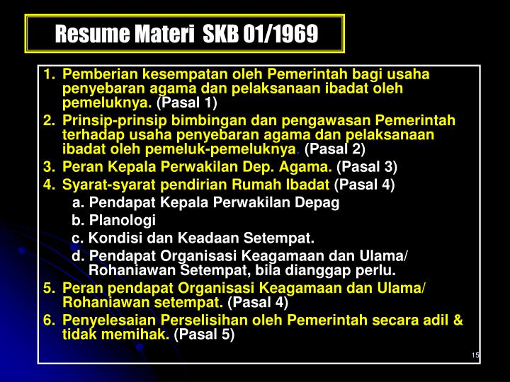 Resume Materi  SKB 01/1969