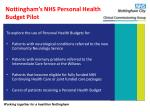 nottingham s nhs personal health budget pilot