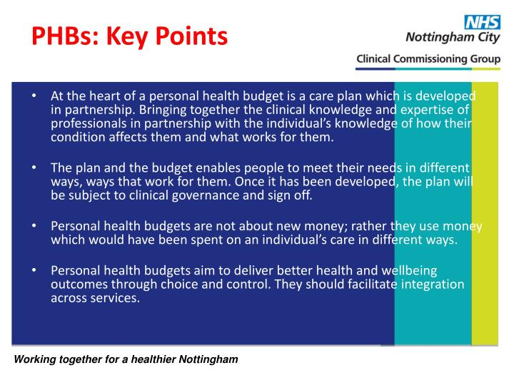 PHBs: Key Points