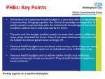 phbs key points