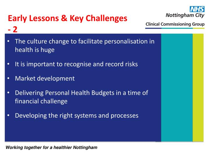 The culture change to facilitate personalisation in health is huge