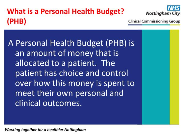 What is a Personal Health Budget? (PHB)