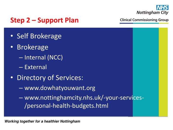 Step 2 – Support Plan