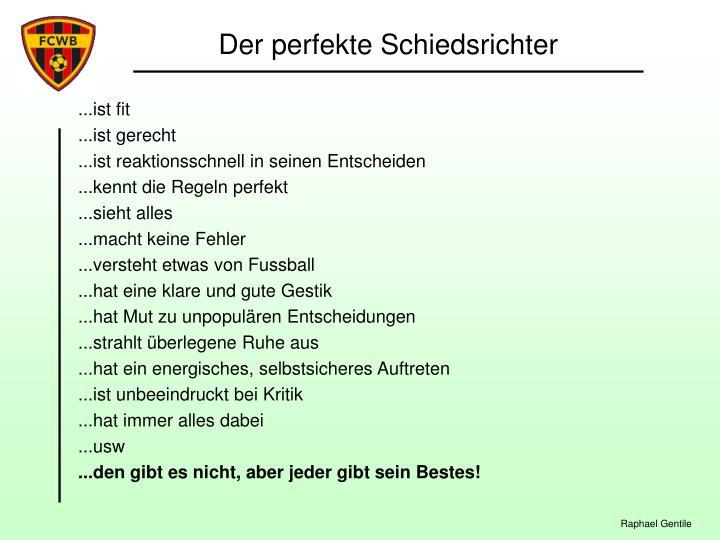 Der perfekte Schiedsrichter