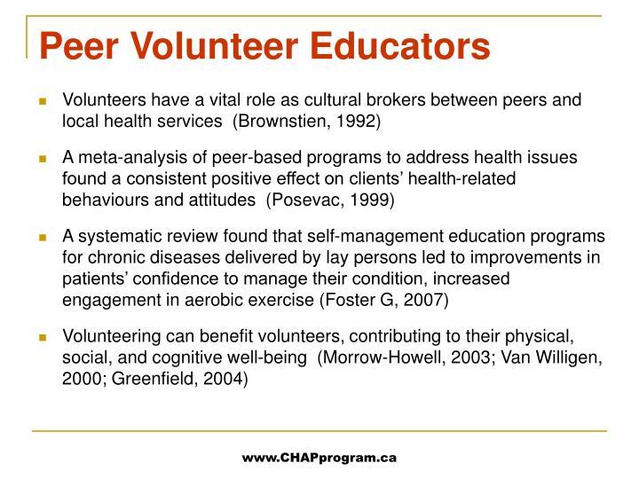 Peer Volunteer Educators