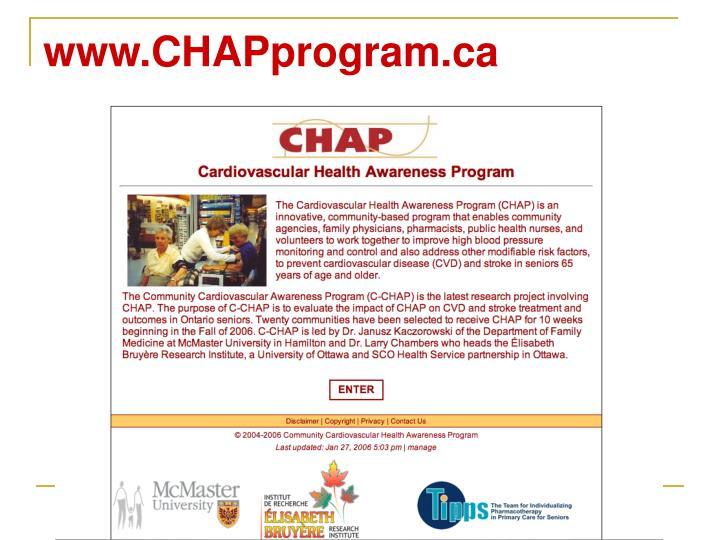 www.CHAPprogram.ca