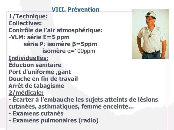 VIII. Prévention
