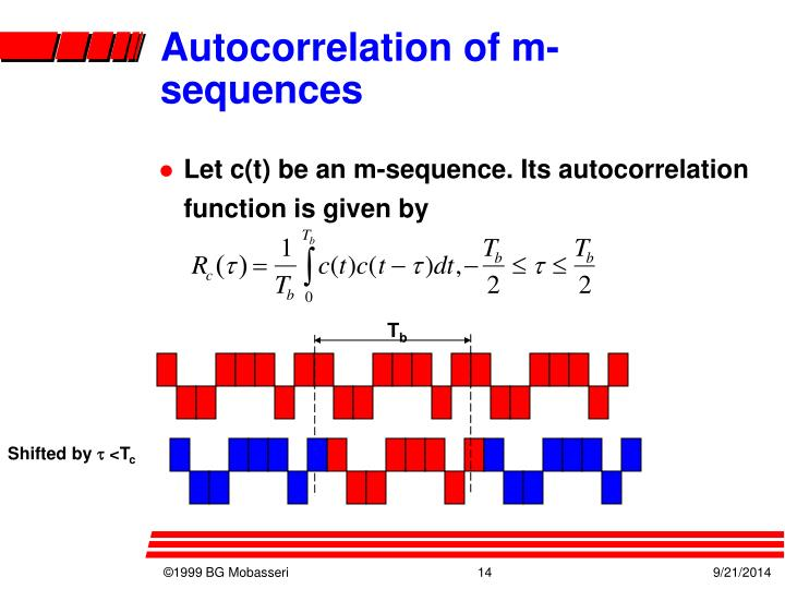 Autocorrelation of m-sequences