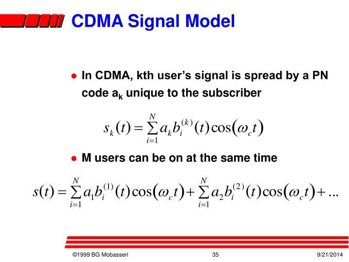 CDMA Signal Model