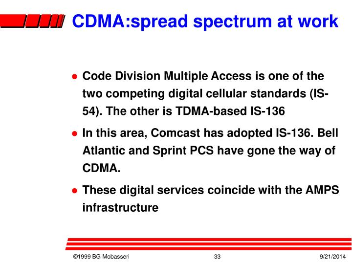 CDMA:spread spectrum at work