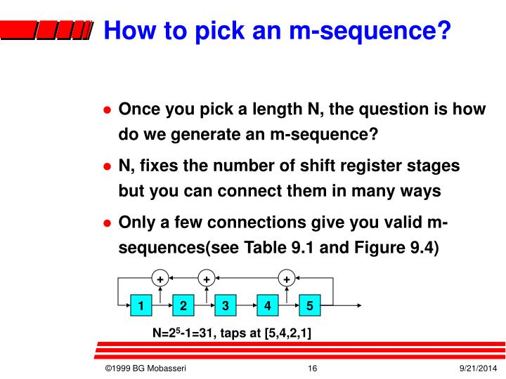 How to pick an m-sequence?