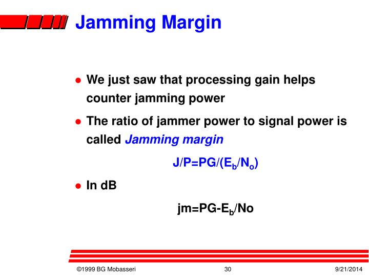 Jamming Margin