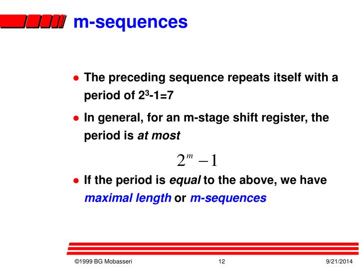 m-sequences