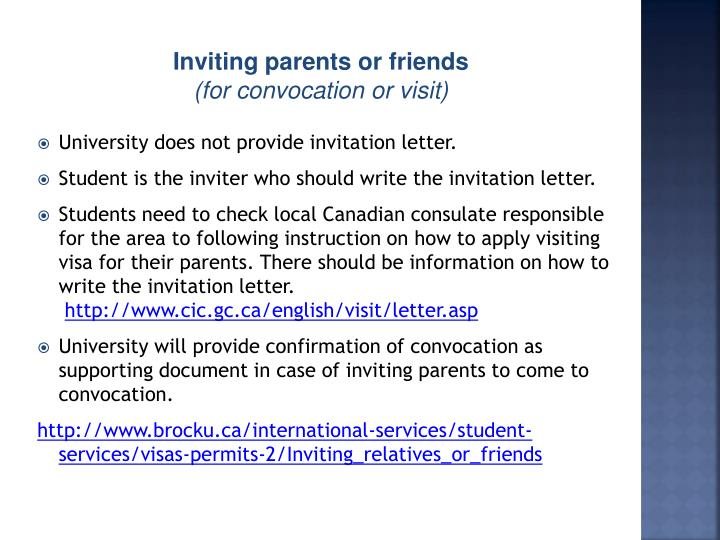 University does not provide invitation letter.