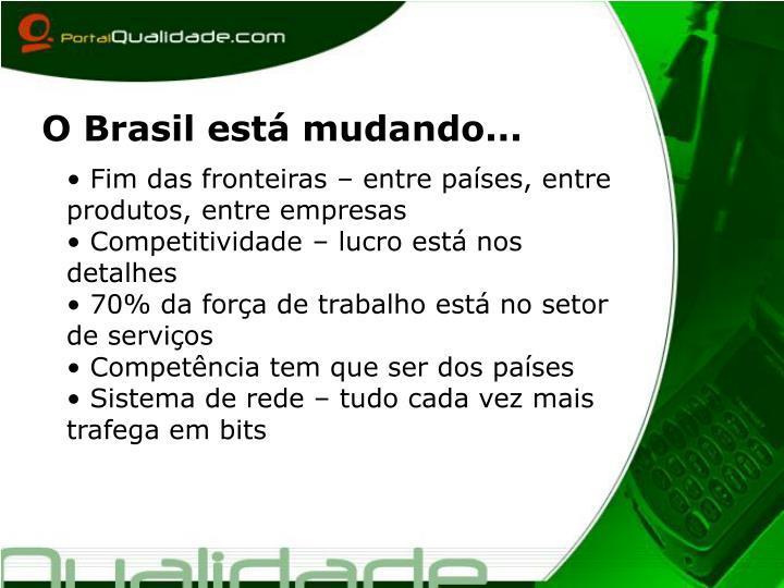 O Brasil está mudando...