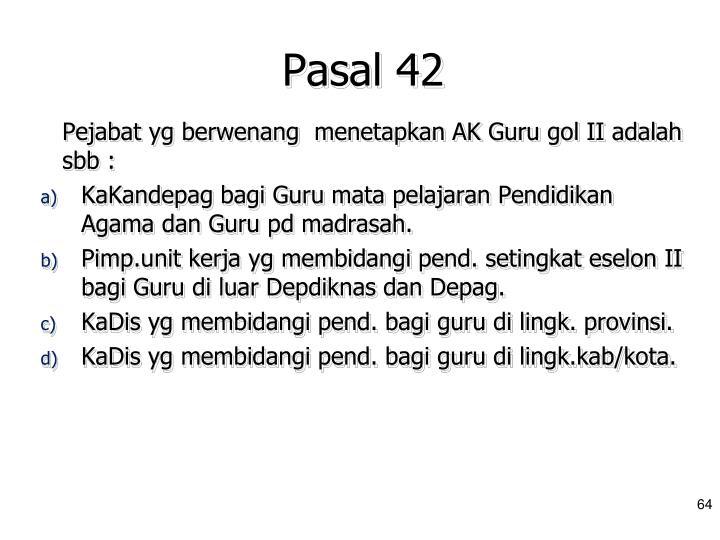Pasal 42