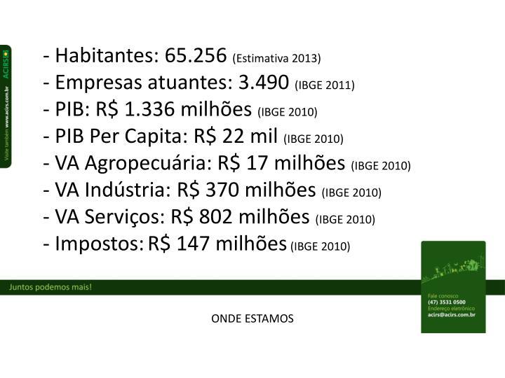 - Habitantes: 65.256