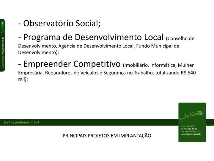 Observatório Social;