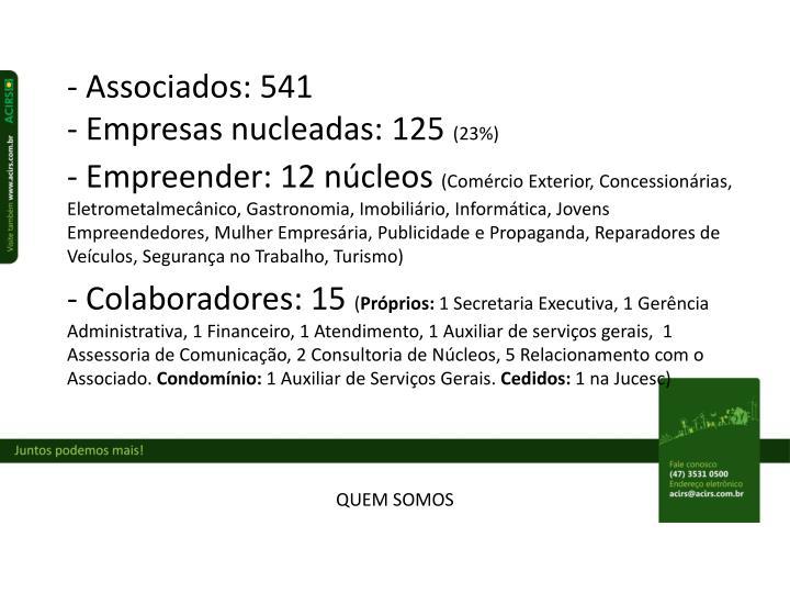 - Associados: 541