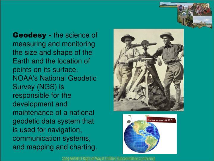 Geodesy -