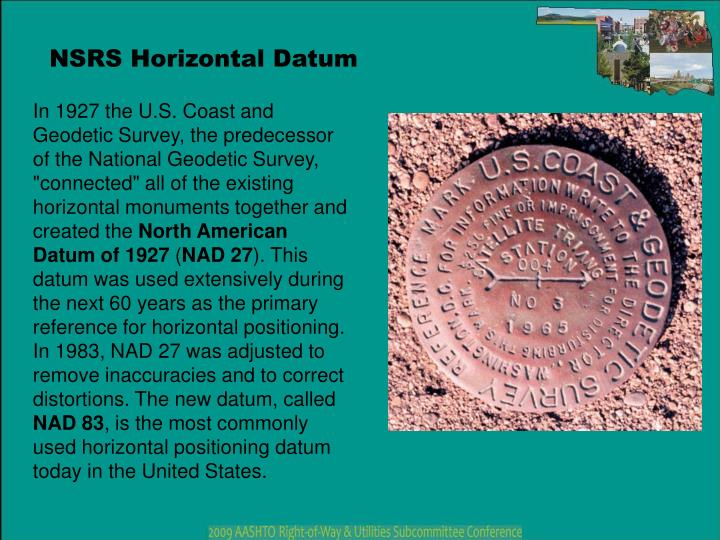 NSRS Horizontal Datum