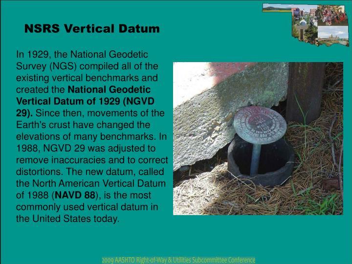 NSRS Vertical Datum