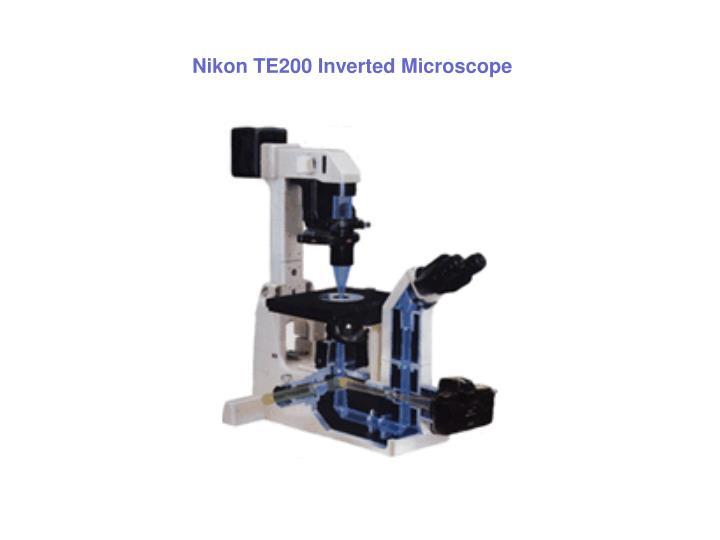 Nikon TE200 Inverted Microscope