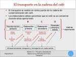 el transporte en la cadena del caf
