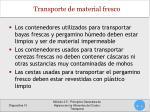 transporte de material fresco