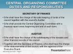 central organizing committee duties and responsibilities2