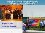 united nations international youth day celebration