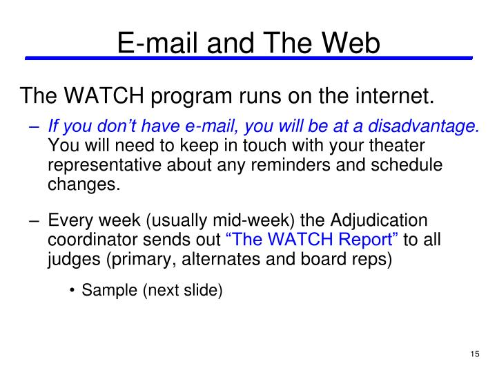 E-mail and The Web