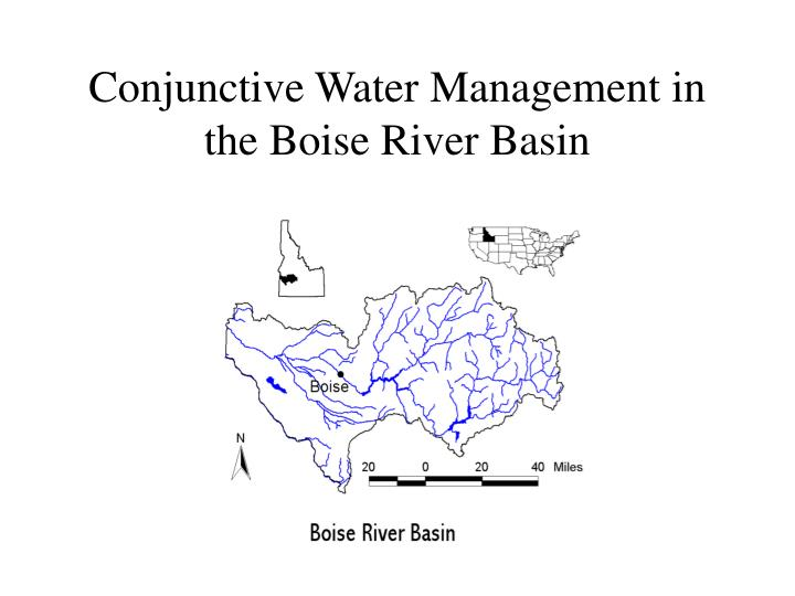 Conjunctive Water Management in the Boise River Basin