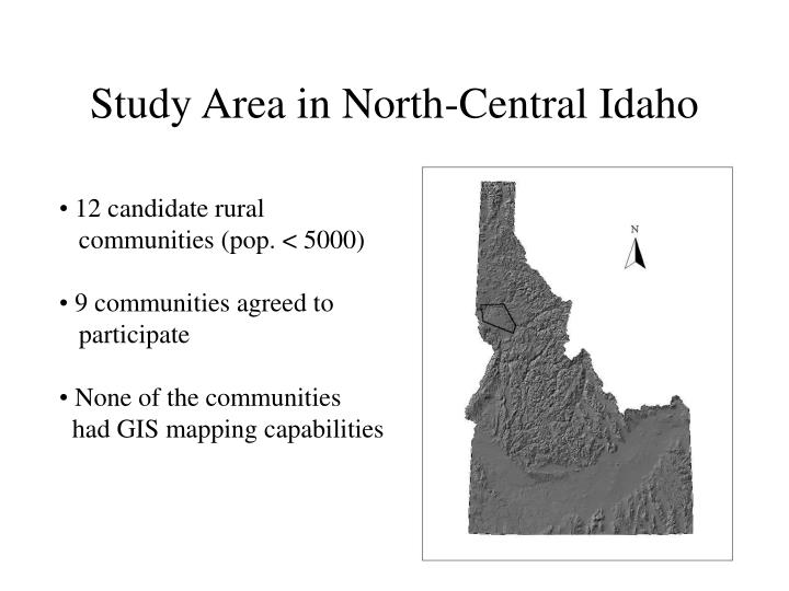 Study Area in North-Central Idaho