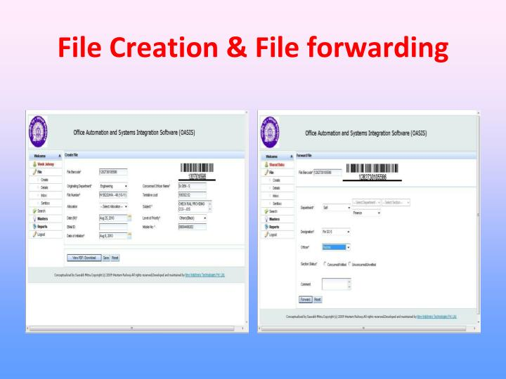 File Creation & File forwarding