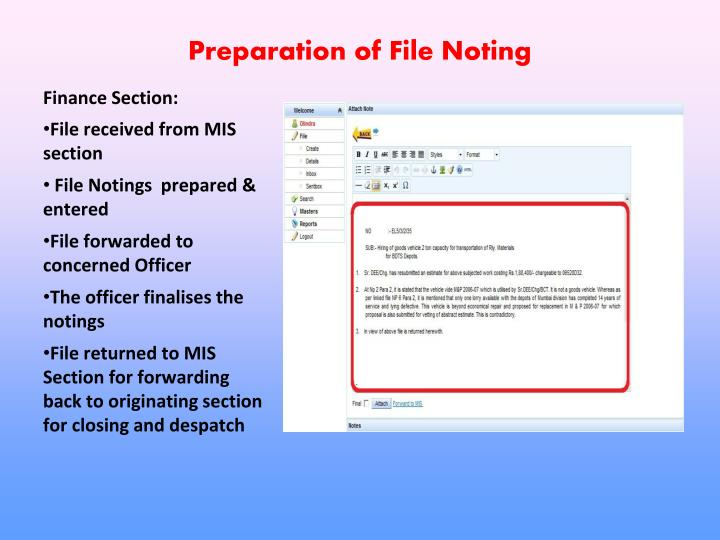 Preparation of File Noting
